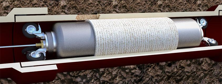 Grabenlose Sanierung von Abwasserleitungen mittels Kurz-/und Longliner