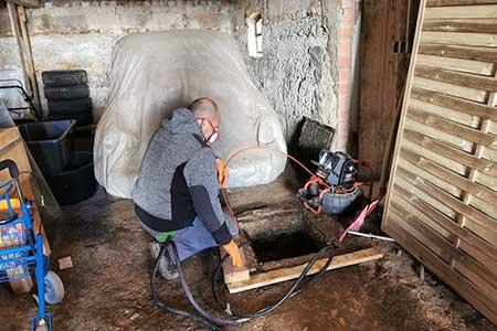 Reinigung-einer-Grundleitung-in-Ulm